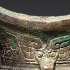 An Archaic Bronze Ritual Wine Goblet (Jiao)