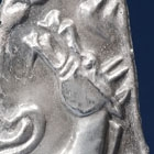 A SILVER 'WINGED STALLION' HARNESS ORNAMENT