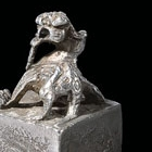 AN ARCHAIC SILVER SEAL WITH BIXIE KNOP