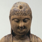 A WOOD FIGURE OF AMITĀBHA