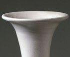 A WHITE GLAZED PORCELAIN PEAR-SHAPED VASE (YUHUCHUNPING)