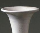 A WHITE GLAZED PORCELAIN PEAR-SHAPED VASE (YUHUCHUNPING)