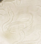 A CARVED DINGYAO WHITE PORCELAIN DISH