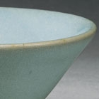A PALE BLUE GLAZED JUNYAO CONICAL BOWL