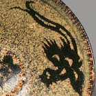 A JIZHOU PAPER-CUT DECORATED PHOENIX AND FLOWERS TEA BOWL