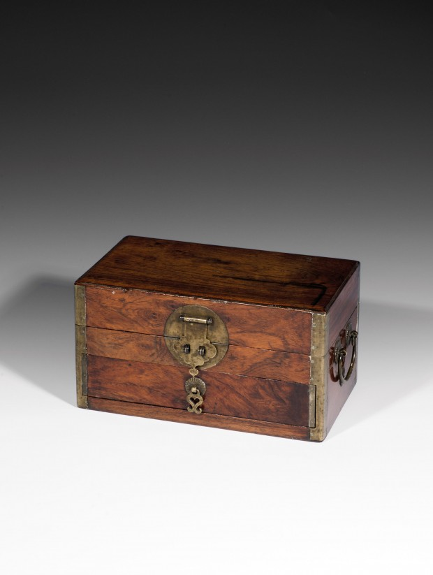 A HUANGHUALI BOX WITH DRAWER