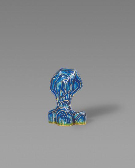 A CLOISONNÉ ENAMEL MODEL OF A SCHOLAR'S ROCK
