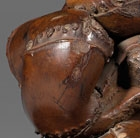 A BAMBOO INCENSE STICK HOLDER