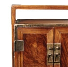 A HUANGHUALI SMALL TRAVELLING CHEST