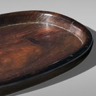 AN OVAL HUANGHUALI TRAY