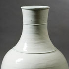 A MASSIVE WHITE PORCELAIN LONG-NECKED VASE