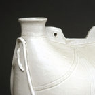 A LARGE WHITE PORCELAIN 'PILGRIM FLASK'