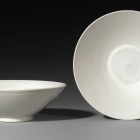 A PAIR OF ROUNDED CONICAL BOWLS