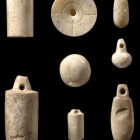 A GROUP OF SMALL NEOLITHIC JADE ORNAMENTS