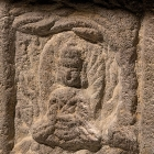AN INSCRIBED RED SANDSTONE BUDDHIST STELE