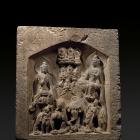 A LIMESTONE BLOCK-FORM BUDDHIST STELE
