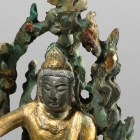 A GILT BRONZE FIGURE OF SOUTH SEA GUANYIN