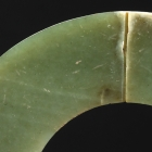 A NEOLITHIC JADE SLIT RING (JUE)