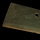 A LARGE NEOLITHIC JADE CEREMONIAL BLADE (DAO)