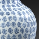 A BLUE AND WHITE PORCELAIN 'SHOU' CHARACTERS VASE