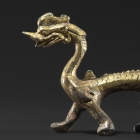 A GILT BRONZE DRAGON