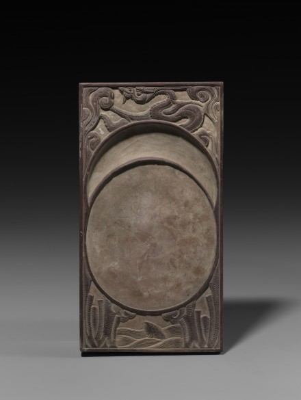 A CARVED REFINED CLAY INKSTONE (CHENGNI YAN)