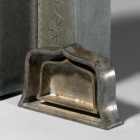 A PAIR OF INSCRIBED PEWTER TEA CADDIES