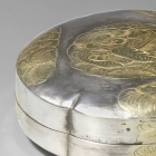 A PARCEL-GILT SILVER 'TWIN DUCKS' BOX AND COVER